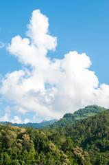 beautiful mountain and blue sky