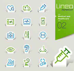 Lineo Papercut - Medical and Healthcare outline icons