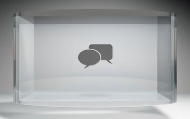 futuristic crystal display social network