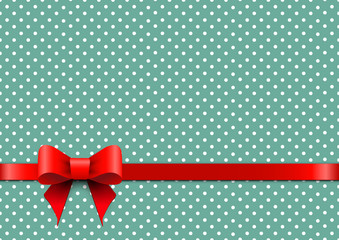 Christmas background with polka dots