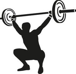 Weightslifter lifts weights