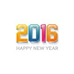 Happy New Near 2016 Logo Festivity. Vector design