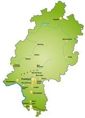 Karte von Hessen