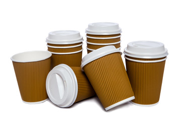 Ginger cardboard cups for hot and cold drinks