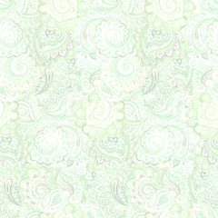 Seamless ornamental ethnic floral background