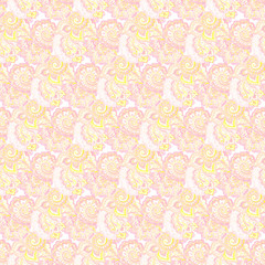 Gentle seamless pattern with indian twirls