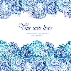 Blue elegant indian ornamental strip
