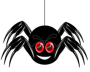 Cartoon of the spider on white