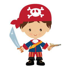 Poster Superheroes Pirate vector illustration