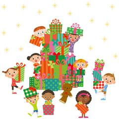クリスマスプレゼントと子供達