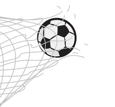 soccer ball through the net