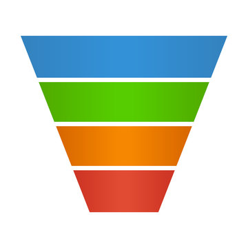 Sales lead funnel flat icon for presentation apps and websites