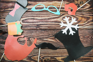 fashion accessories for a fun holiday of paper, lips, mustaches