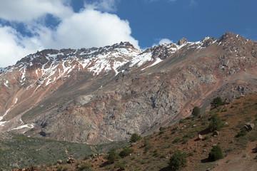 Rocky landscape in the Fan Mountains. Pamir. Tajikistan, Central