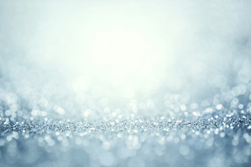 Abstract silver light for holidays background