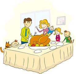thanksgiving day family picture