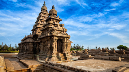 Shore temple in Mahabalipuram, Tamil Nadu, India Wall mural
