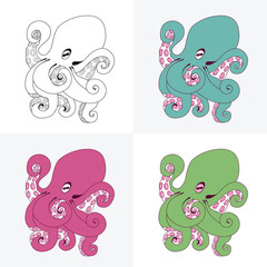 Set of octopus