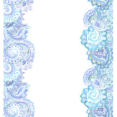 Indian oriental design of ornamental frame for text