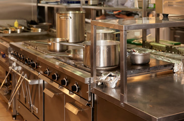 Real kitchen of a restaurant