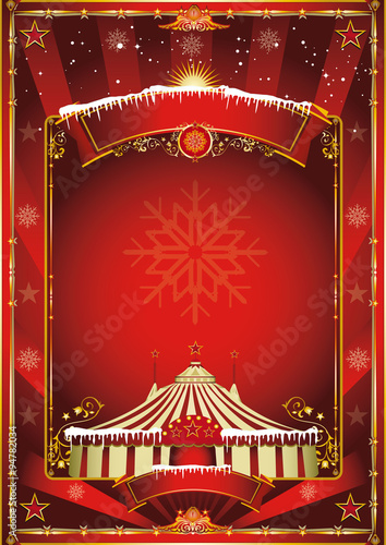 christmas circus background fichier vectoriel libre de. Black Bedroom Furniture Sets. Home Design Ideas