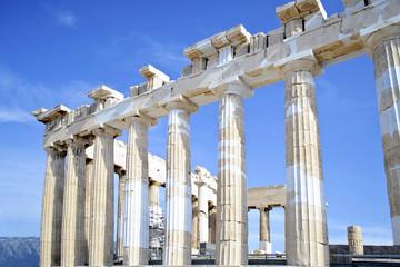 Acropolis columns in Athens Greece