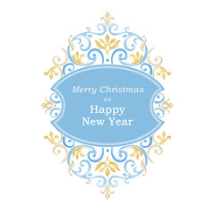 Ornate banner for Christmas and New Year design.