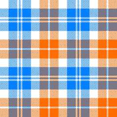 orange and blue light tartan seamless pattern