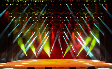 Concert stage with illumination