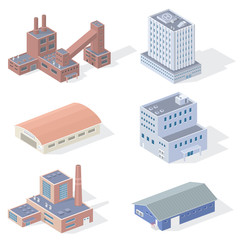 Isometric Industrial Buildings