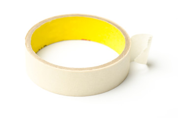 Tape roll on white background