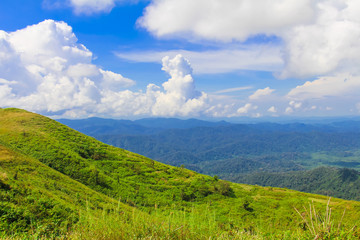 Landscape on the mountain at countryside in Thailand.