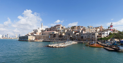 View of the old port of Jaffa