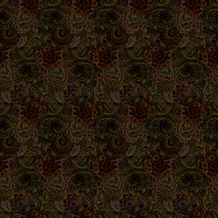Decorative dark seamless background for textile ornament