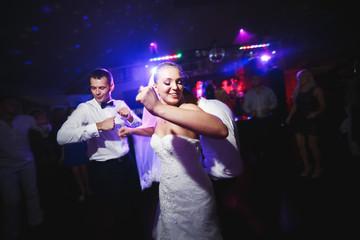 beautiful bride and groom dancing