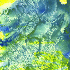 watercolor monotype background texture yellow blue