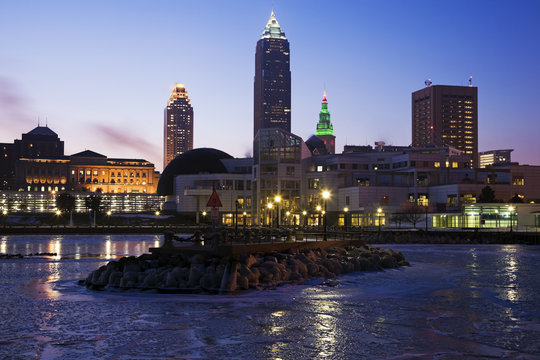 Winter morning in Cleveland