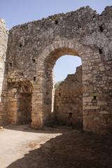 Room inside public baths at Aptera on Crete