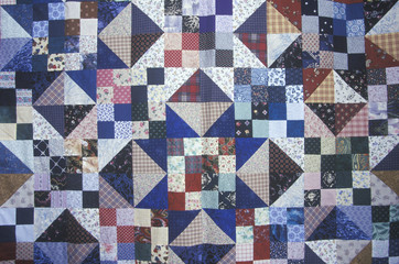 Close-up of sea island quilt pattern, Beaufort, SC