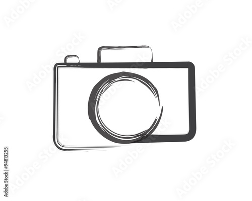 quotcamera silhouette and camera logoquot stock image and