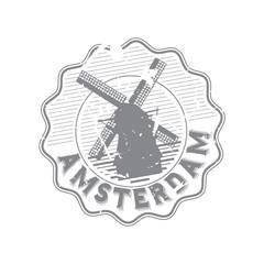 Vector Amsterdam Rubber bottle cap stamp