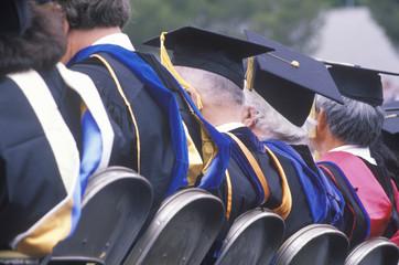 College graduates celebrating, UCLA, Los Angeles, CA