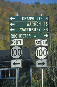 Miscellaneous road signs in Vermont