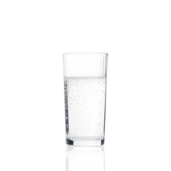 Pure drink water in glass