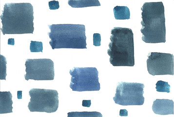 Hand drawn pattern of watercolor shapes.