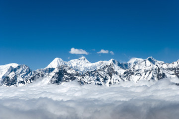Fotobehang - View from Cho La Pass - Nepal