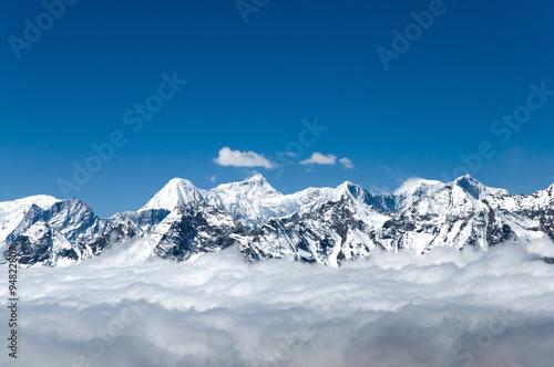 Fotobehang View from Cho La Pass - Nepal