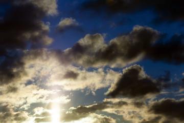 sunset. the sky