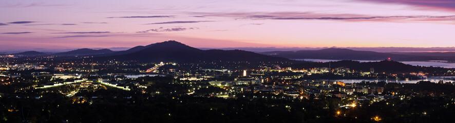 Canberra - sunrise panorama
