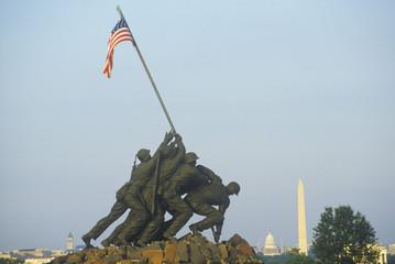 Photo sur Plexiglas Commemoratif Iwo Jima United States Marine Corps Memorial in Arlington, Virginia